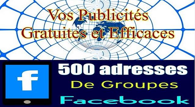 Vos Publicités Gratuites et Efficaces sur 500 groupesFacebook